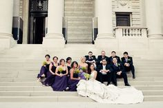 Group shot outside on the stairs