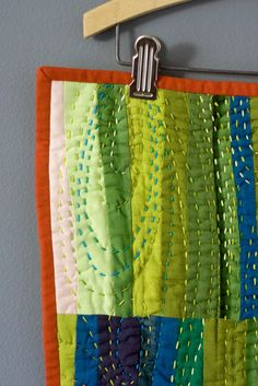 Nice hand quilting; like the use of color
