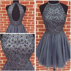 Gray Homecoming Dress