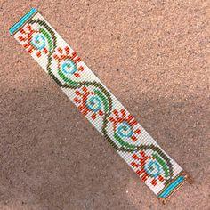 Fiesta Flora Bead Loom Bracelet Artisanal Jewelry by PuebloAndCo