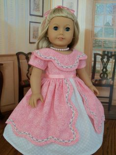 Special Occasion Gown for Marie Grace or Cecile/ Clothes for American Girl Dolls. $62.00, via Etsy. Farmcookies