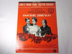 1965 LARA'S THEME from DOCTOR ZHIVAGO Sheet Music PIANO SOLO by Jarre