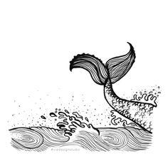 Mermaid digital illustration.