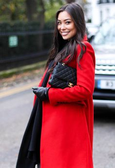 Chanel and Zara wool red coat