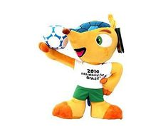 Fifa #fuleco football world cup brazil 2014 #plush toy with ball #size:35 cm,  View more on the LINK: http://www.zeppy.io/product/gb/2/331747107142/