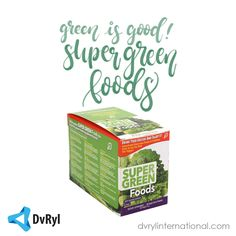 Super Green Foods makes getting your food-based nutrition easier than ever by combining the nutrients of some of the best green food ingredients from around the world—in a single serving. Nutrient-rich plants such as organic chlorella, organic spirulina, organic barley grass juice, organic wheat grass juice and red marine algae are just some of the high-quality ingredients you'll find in Super Green Foods.