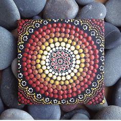 Dot Art Earth design Aboriginal Acrylic dot by RaechelSaunders