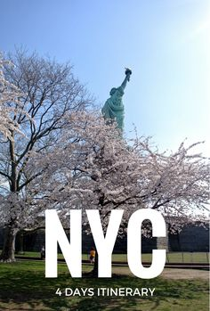 What to do in 4 days in New York City - 9/11 memorial and tribute center, Wall Street, Liberty Island, Brooklyn Bridge and botanical garden, MoMA, Central Park, Natural History Museum, and of course, food! (knishes, cheese cake, bagels, and dimsum)