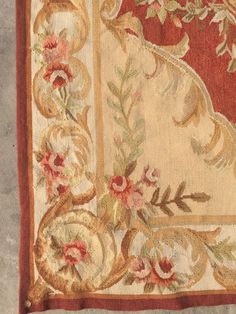 Old Handmade French Design Original Wool Aubusson Rug Tapestry 90 X 150 Cm Picclick Uk