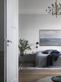 Tour a Moody, Gray Stockholm Apartment With Period Details   @juliaalena
