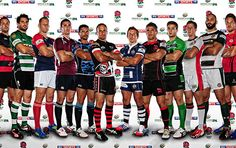 Bristol Rugby - Team captains at the 2013/14 Greene King IPA Championship launch!