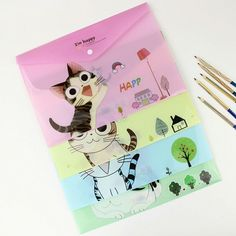 Cheap file folder, Buy Quality file folder storage directly from China file Suppliers: 1 PC Cute Cartoon Cheese Cat PVC Filing Products File Folder Storage Stationery School Office Supplies School Office, Office And School Supplies, Cat Bag, Pvc, Cute Cartoon, Stationery, Ebay, File Folders, Filing