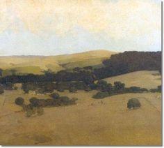 Arthur Frank Mathews - San Francisco Bay Area Landscape 1907