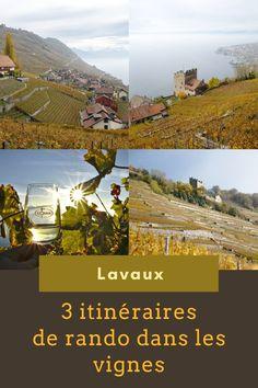 3 itinéraire de balade dans la région de Lavaux en Suisse. Partir à la découverte de ces magnifiques vignes surplombant le lac léman et classées au patrimoine mondial de l'Unesco. #lavaux #suisse #unesco #myswitzerland #myvaud