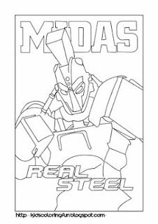 Midas Real Steel Coloring Pages 226x320 Pixels