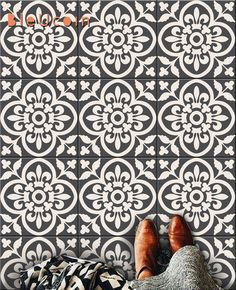 Encaustic Moroccan Tile Wall Stair Floor Self Adhesive Vinyl Stickers,Kitchen Bathroom Backsplash Carrelage Decal, Peel & Stick Home Decor by Bleucoin on Etsy https://www.etsy.com/listing/267746345/encaustic-moroccan-tile-wall-stair-floor