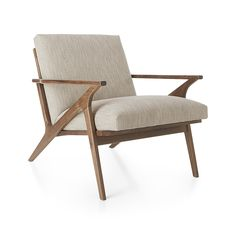 Shop Cavett Chair.   The Cavett chair's slight recline angles you back comfortably with supportive cushions upholstered in a polyester basketweave that layers varied tones of brown.  The Cavett Chair is a Crate and Barrel exclusive.