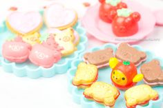 RE MENT. Rilakkuma cookies, Macarons, and Jelly.