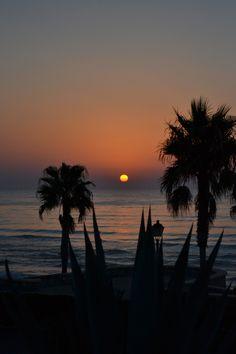 A photo I took of the sunrise in Mojacar, Spain :)