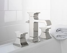 View the Mico 100-IL Double Handle Widespread Bathroom Faucet with Metal Handles and Drain Assembly from the Intel Collection at Build.com.