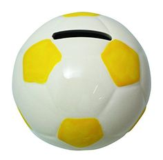 JustNile Creative Money Piggy Bank  Yellow Football ** Details can be found by clicking on the image.