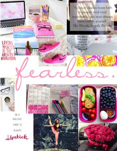 Monday Motivation board // preppy / healthy eating / fitness / fitspo / quotes / elle woods / girly / pink