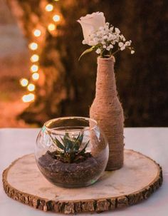 17 Non Floral Centerpieces That Will Make You Forget About The Flowers - Hochzeit Non Floral Centerpieces, Succulent Centerpieces, Rustic Wedding Centerpieces, Wedding Flower Arrangements, Wedding Flowers, Wedding Decorations, Centerpiece Ideas, Centerpiece Flowers, Diy Flowers