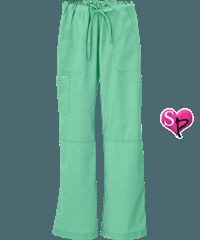 Butter-Soft+Scrubs+by+UA%99+Women%27s+PETITE+6+Pocket+Cargo+Drawstring+Pant