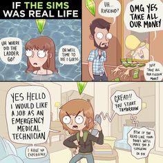 Funny pictures about If The Sims Was Real Life. Oh, and cool pics about If The Sims Was Real Life. Also, If The Sims Was Real Life photos. Sims Memes, Funny Memes, Hilarious, Sims Humor, Dog Memes, Funny Quotes, Giselle Bündchen, Adam Ellis Comics, 4 Image