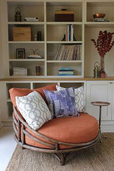 Pleasant Papasan Chair Design Ideas - Page 12 of 20 Living Room Chairs, Living Room Decor, Bedroom Decor, Dining Chairs, Casa Hygge, Furniture Decor, Furniture Design, Papasan Chair, Chair Cushions