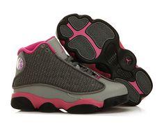 adb19568cb313 Air Jordan 13 XIII Retro PS 2013 - Chaussure Baskets Jordan Pas Cher Pour  Petit Fille Cool Gris Fusion 439669-029