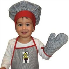 Grandson loves this set. kitchens, conductor apron, railroad kitchen, kitchen dining, aprons, kitchen train, kitchen engin, apron set, engin apron