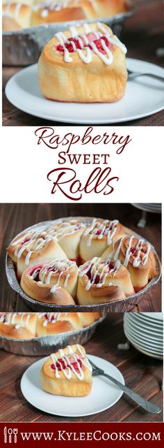 Soft, pillowy rolls, stuffed with raspberries (and a little lemon zest and sugar), and drizzled with cream cheese frosting – these pretty little rolls will delight everyone!