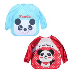 Unbruvo Baby Toddler Waterproof Bibs Long Sleeve Painting Smock - Cute Panda Design -- Awesome products selected by Anna Churchill