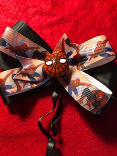 A personal favorite from my Etsy shop https://www.etsy.com/listing/583808825/spiderman-hair-bow