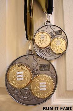 New Years Double Half Marathon & 5K Medals (2014) | Run It Fast