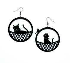 Basket Earring by PebetaTeta on Etsy