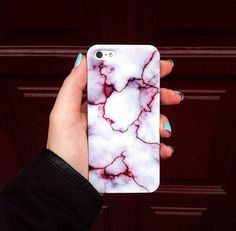 This purple-tinged, marble-inspired iPhone case is solid as a rock. #etsyfinds