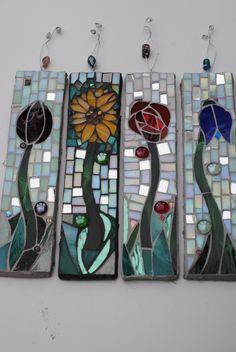 Spring Flowers ~ Garden Mosaic Decorations ~ Designed by Lea Stubberfield ~ Rock Jelly Mosaics
