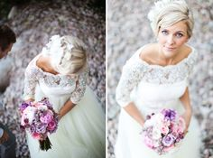 Wedding dress & hair #vintagehoneymoon