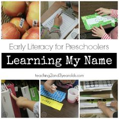 Activity ideas to help toddlers learn the letters in their name.