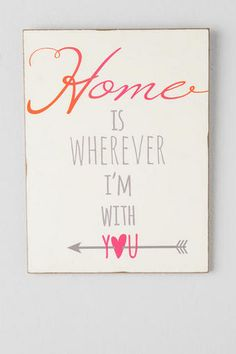 Home is With You Wall Decor