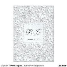 Elegant Invitation for weddings in Spanish