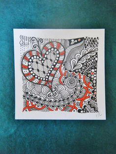 Zentangle Art on etsy