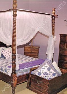 Mosquito Net | Queen Size | Box Shape | Queen Bed net and Canopy Mosquito Net Bed, Canopy Bed Curtains, Bed Net, Bedroom Accessories, Queen Size Bedding, Cotton Bedding, Queen Beds, Outdoor Furniture, Hair Tutorials