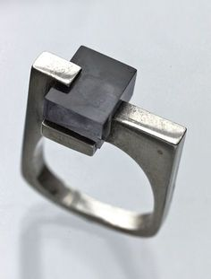 Constructivist French ring, c.1965.