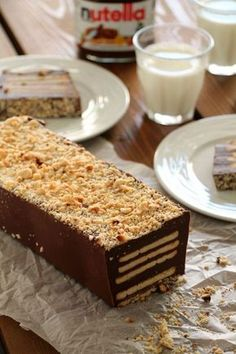 The one with all the tastes Candy Recipes, Sweet Recipes, Dessert Recipes, Mnm Cake, Nutella Biscuits, Waffle Cake, Nutella Cake, Greek Desserts, Custard Cake