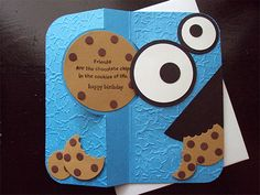 """Oh my goodness but this is a cute """"Cookie Monster"""" card  :-)"""