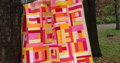 Welcome to finish it up Friday!    My pink lemonade quilt is complete!    When I was taking photographs yesterday, the firstline from the ...