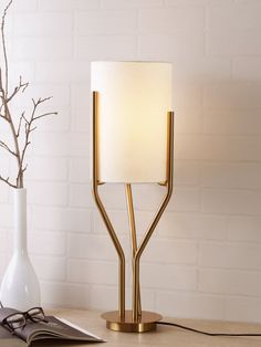 Arbor Luxury Table Lamp - Contemporary Table Lamp which is a versatile decor element in your interior space. It renders an elegant appeal to your home decor and adds a luxurious charm to modern interiors. This Luxury Table Lamp features accents of gold brass, marble and glass completed by a stunning lampshade. It is easy to move around, has a practical purpose and offers a beautiful illumination to brighten up your residence or commercial space Decoration Lights For Home, Light Decorations, Home Decor, Luxury Lighting, Lighting Store, Luxury Table Lamps, Wall Lights, Ceiling Lights, Contemporary Table Lamps